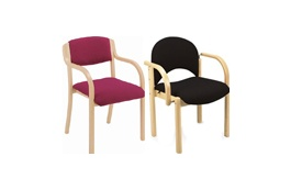 Wood Frame Visitor Chairs