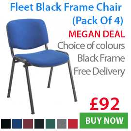 Fleet Black Frame Conference Chairs