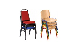 4-Leg Stacking Chairs
