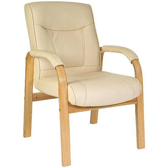 Knightsbridge Cream Leather Visitor Chair
