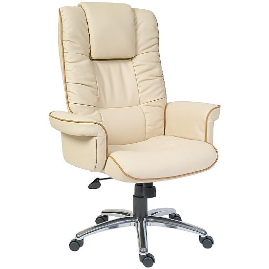 Windsor Cream Leather Manager Armchair