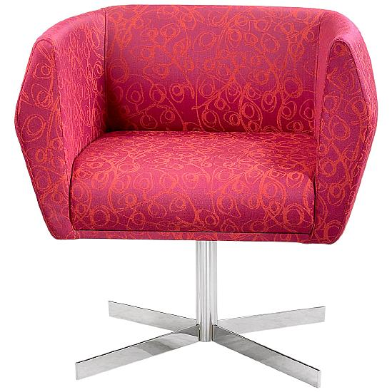 Premium HB1 Collection Fabric Reception Chair With Vertical Cruciform Legs