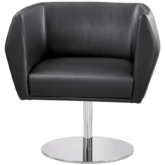 Premium HB1 Disc Base Leather Reception Chairs