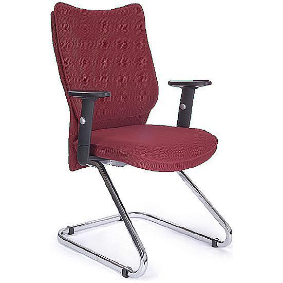 Naples Shirt Tail Fabric Visitor Chair