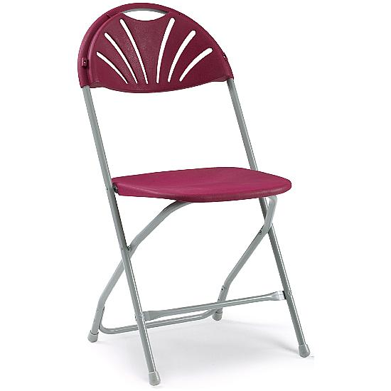 Fan Back Folding Chairs - Pack of 8 - Office Chairs