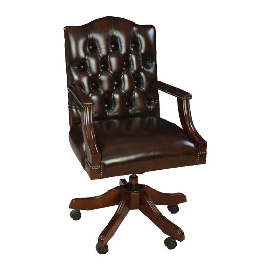 shop antique replica leather chairs