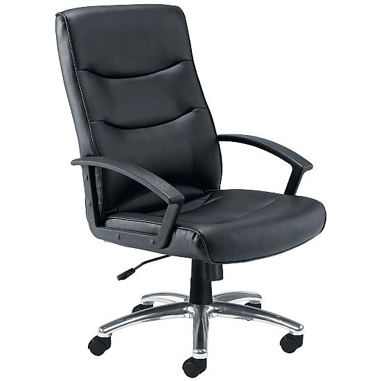 Canasta II Chrome Leather Look Manager Chair