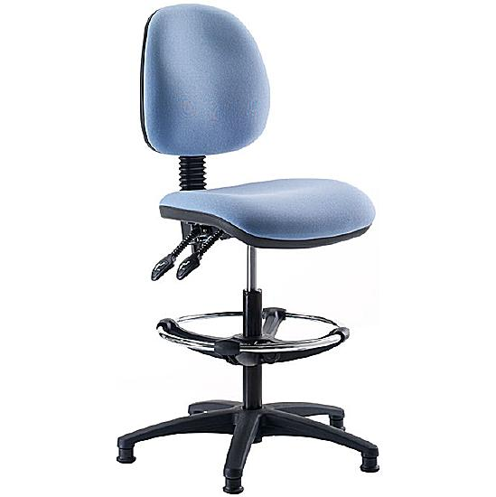 Stewart Medium Back Draughtsman Chair - Office Chairs