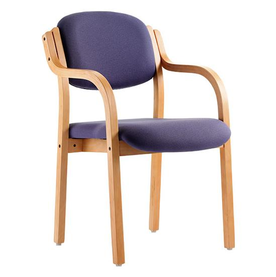 Windsor Beech Stacking Armchair - Office Chairs