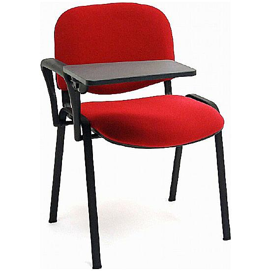 Rio Black Frame Conference Chair With Writing Tablet (Pack of 4) - Office Chairs