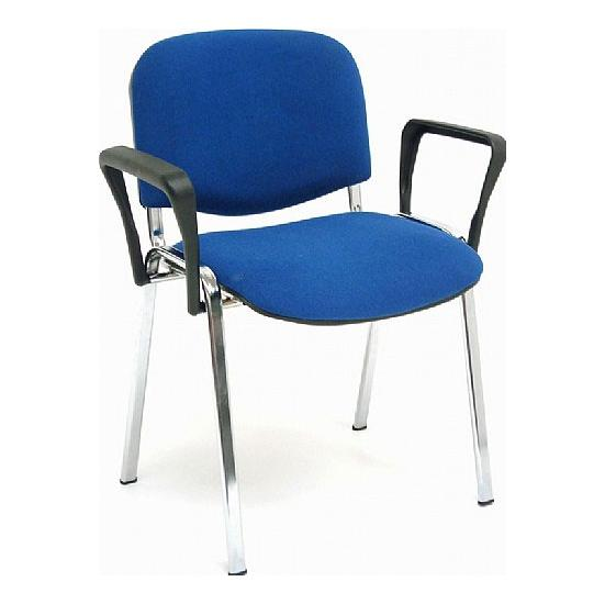 ISO Chrome Frame Conference Chair With Arms (Pack of 4) - Office Chairs