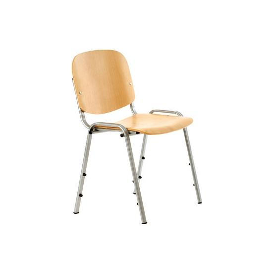 Lifestyle Silver Frame Stacking Chair (Pack of 4) - Office Chairs