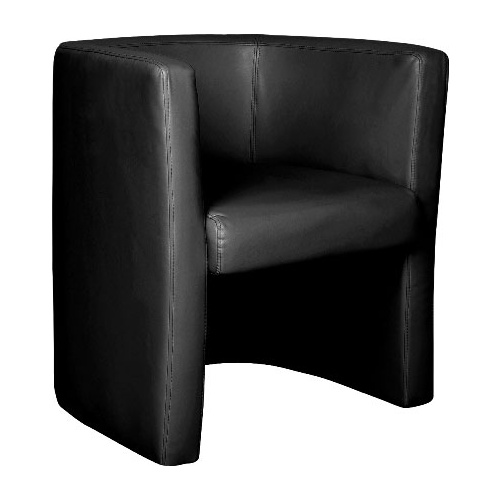 Glee Leather Faced Tub Chair Black