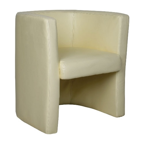 Glee Leather Faced Tub Chair Cream