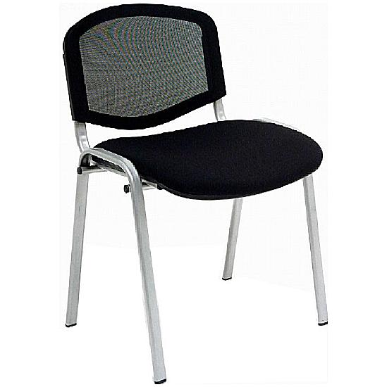 Mac Mesh Silver Frame Conference Chair (Pack of 4)