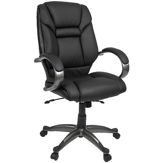 Bailey Black Leather Executive Chair - Office Chairs