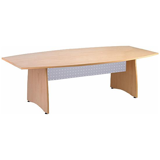 Barrel Boardroom Table With Metal Modesty Panels