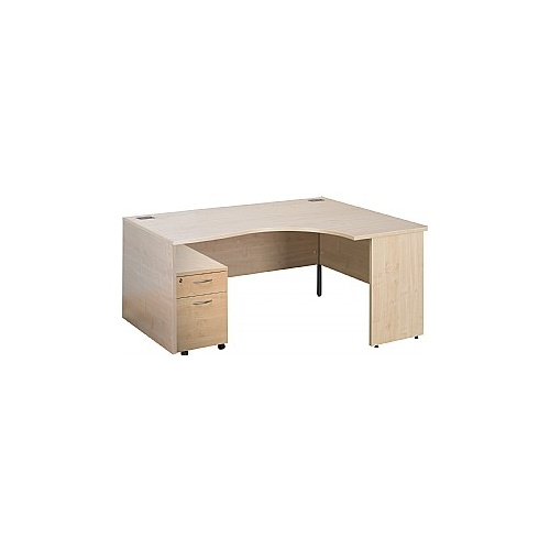 Eco Panel End Ergonomic Desks With Mobile Pedestal
