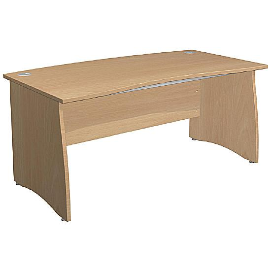 Arena Standard Double Wave Bow Panel End Desk