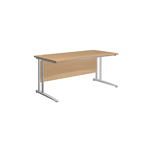 Arena Contract Double Wave Cantilever Desk