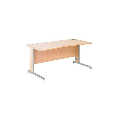 Arena Contract Plus Double Wave Cantilever Desk