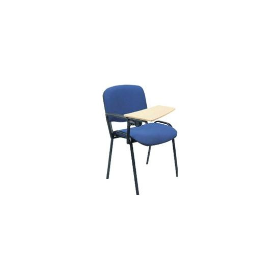 ISO Black Frame Conference Chair With Beech Writing Tablet (Pack of 4)