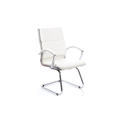 Ritz Executive White Visitors Chair