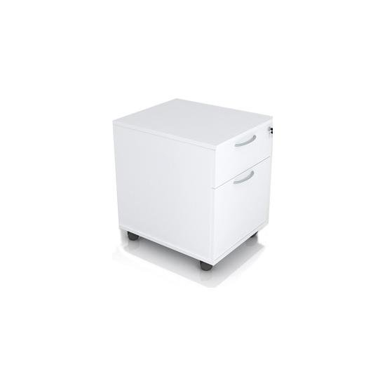 Optima White Mobile Pedestal