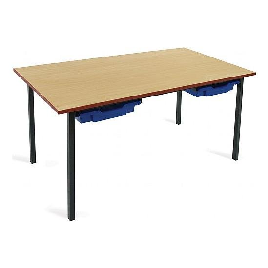 Scholar Black Frame Classroom Tables With Trays