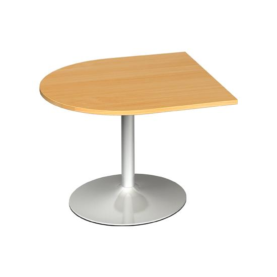 Modern D-End Boardroom Extension Table
