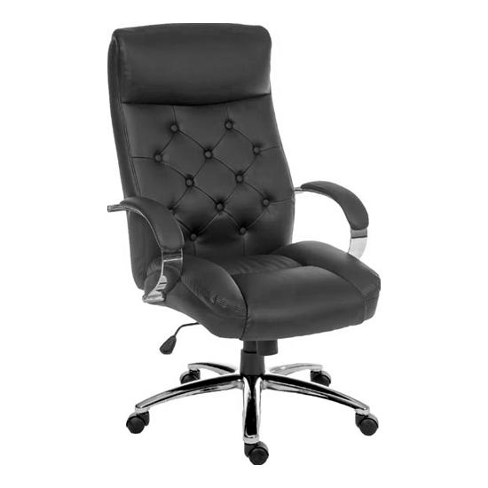 Traditional Leather Look Executive Chair