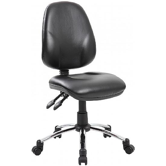 Comfort Ergo 2-Lever Leather Operator Chairs With