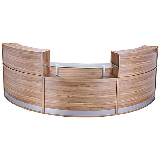 Haddon 3 Section Curved Reception Desk Bundle Deal