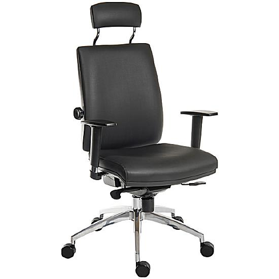 Ergo Plus 24 Hour Executive Leather Operator With Headrest