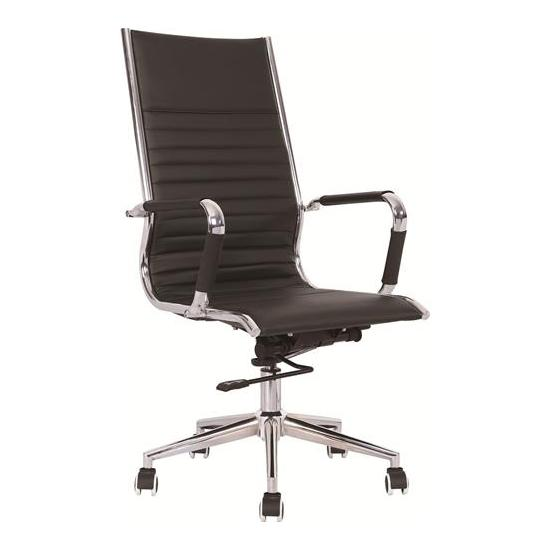 Darby High Back Leather Faced Office Chair