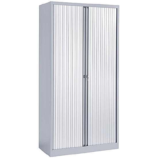 Next Day Contract Steel Tambour Cupboard