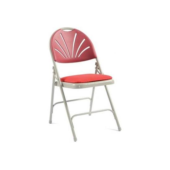 Fan Back Upholstered Folding Chair - Pack of 4