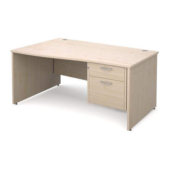 Adapt Panel End Wave Desk -