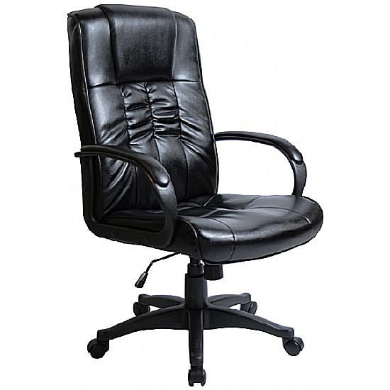 Turin Soft Touch Leather Manager Chair