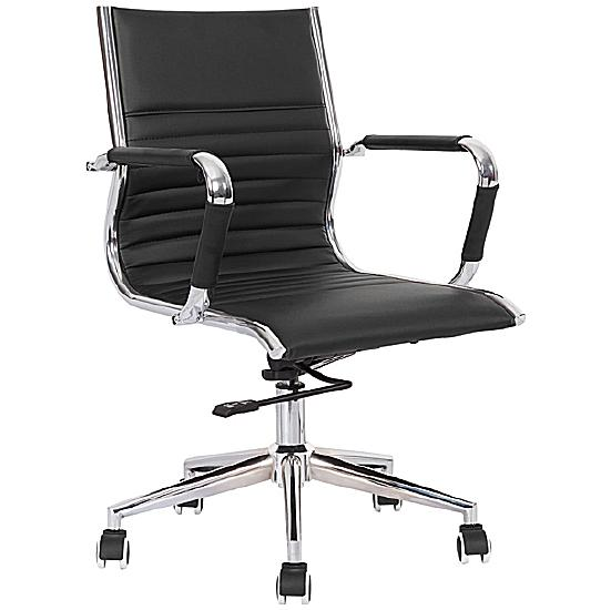 Darby Medium Back Leather Faced Office Chair