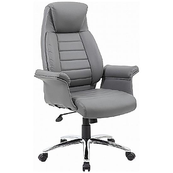 Chester Grey Leather Manager Chair