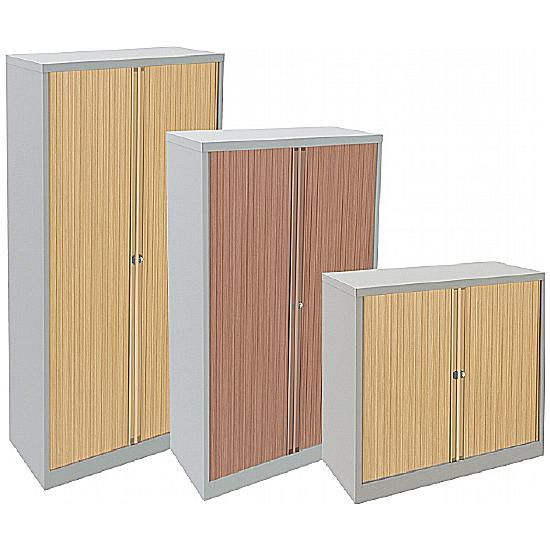 Bisley Contract Silver Tambour Cupboards