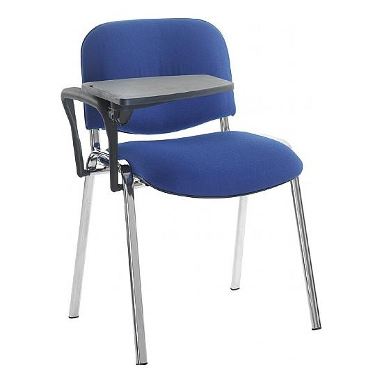 Fleet Chrome Frame Conference Chair With Writing Tablet  (Pack of 2) -