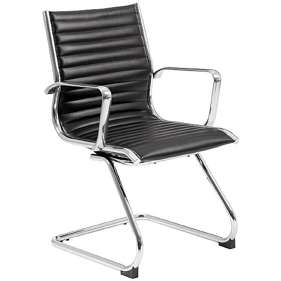 Dura Leather Visitor Chair - Office Chairs
