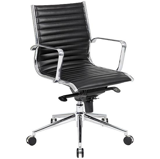 Dura Medium Back Leather Office Chairs