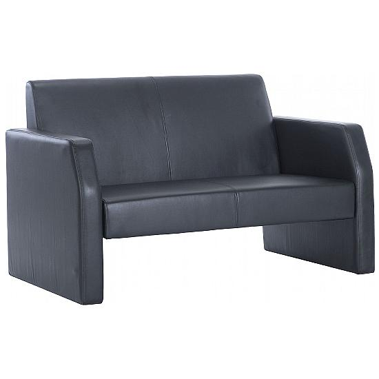 Casper Leather Reception Two Seater - Office Chairs