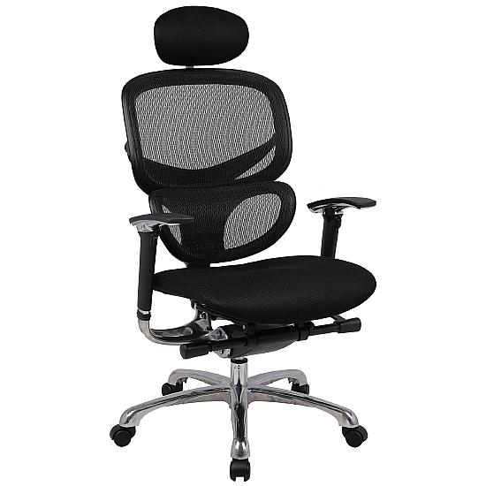 Active 24hr Ergonomic Full Mesh Chair (With Headrest) - Office Chairs