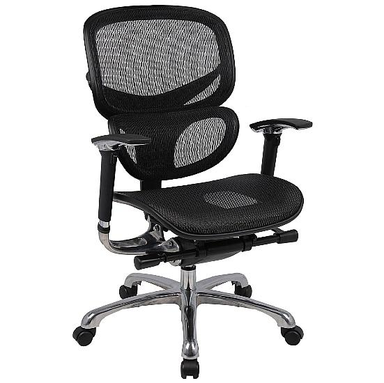 Active 24hr Ergonomic Full Mesh Chair (Without Headrest) - Office Chairs