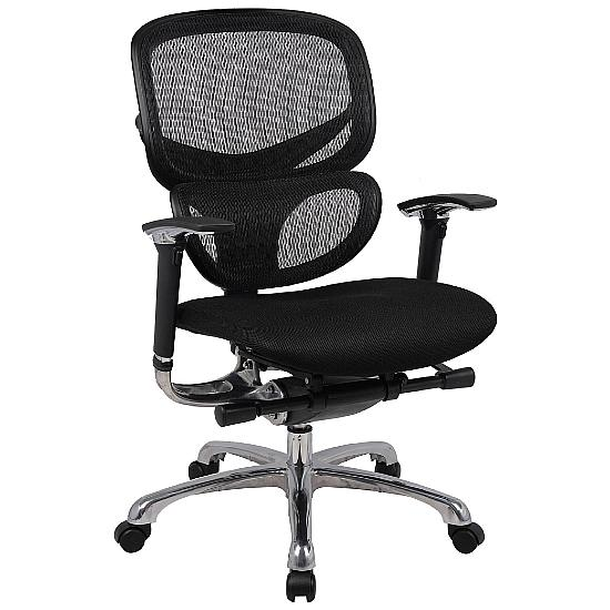 Active 24hr Ergonomic Mesh Back With Air Mesh Seat  (Without Headrest) - Office Chairs