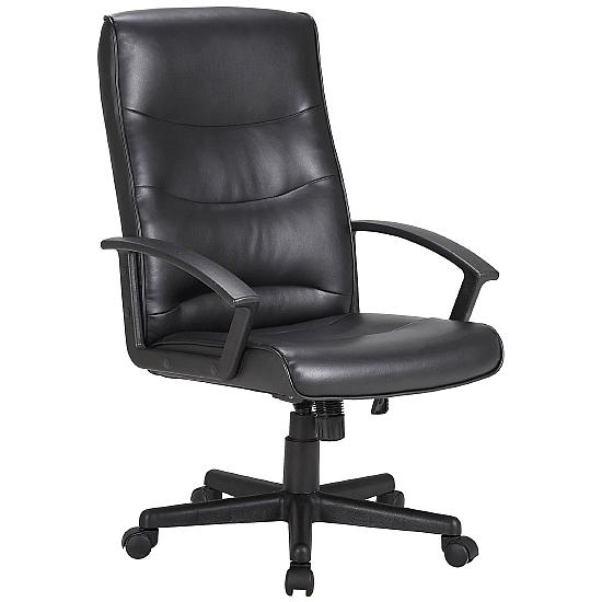 Solus Leather Faced Manager Chair - Office Chairs